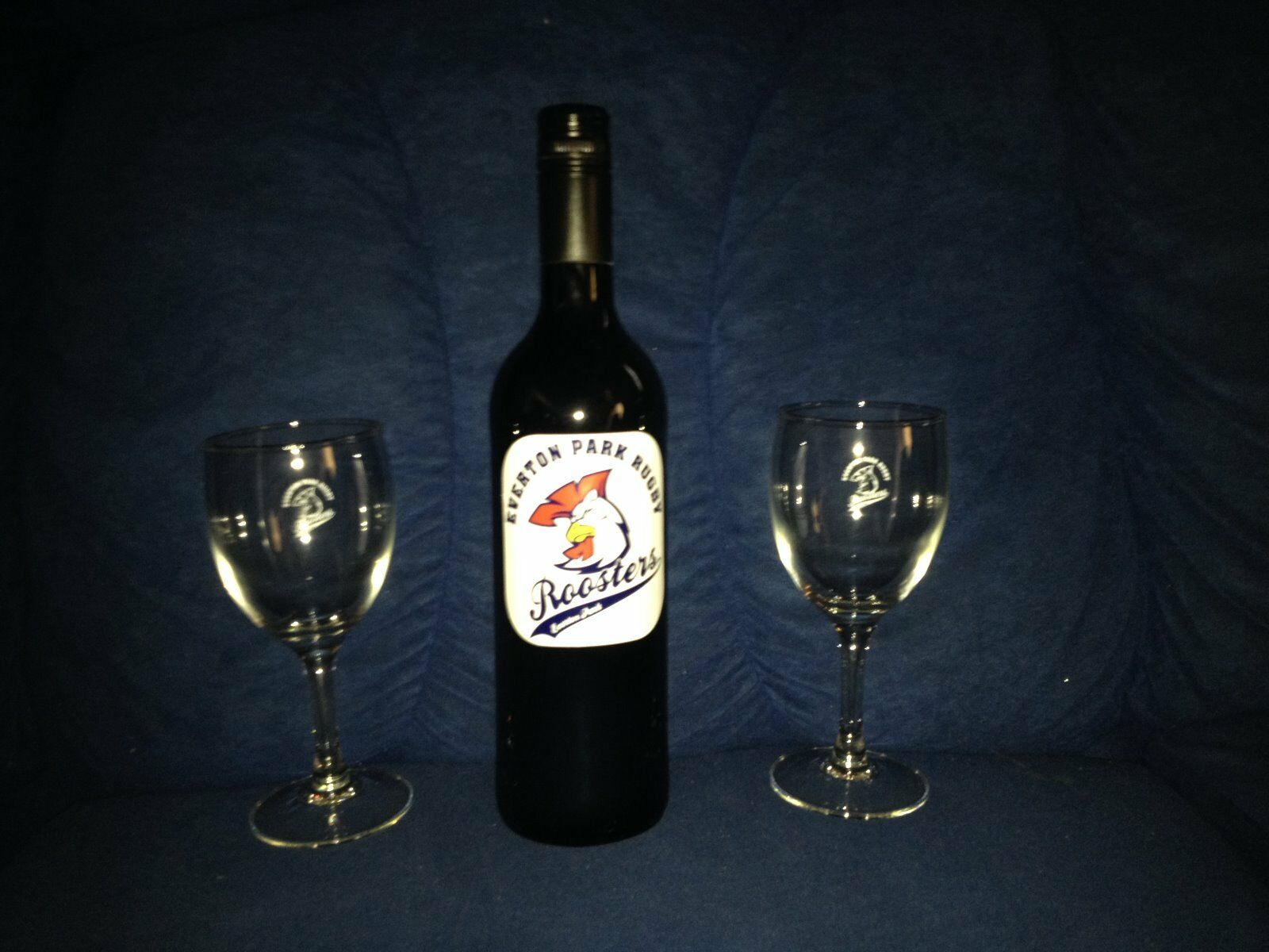 Everton Park Rugby Wine and Glasses Combo Merlot Clearance Sale