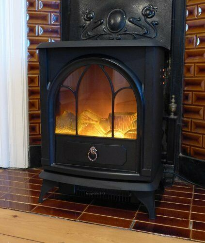 Electric Fire Place Portable Wooden Fireplace Burner Style Stove Burning 1800w