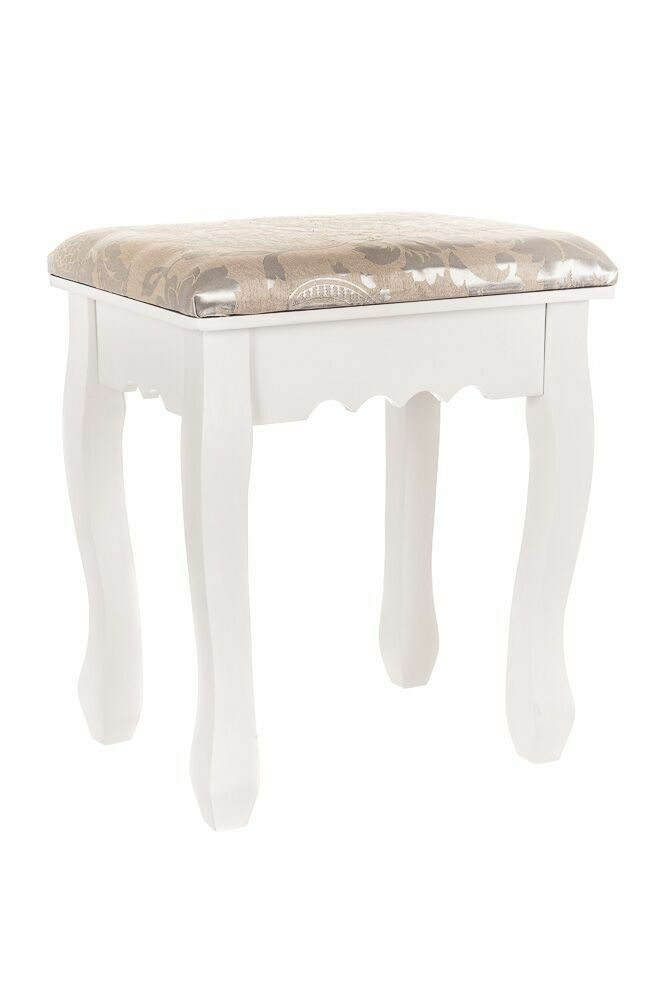 Vintage Stool Dressing Table Piano Chair Padded Decor Makeup Seat Rest Bedroom