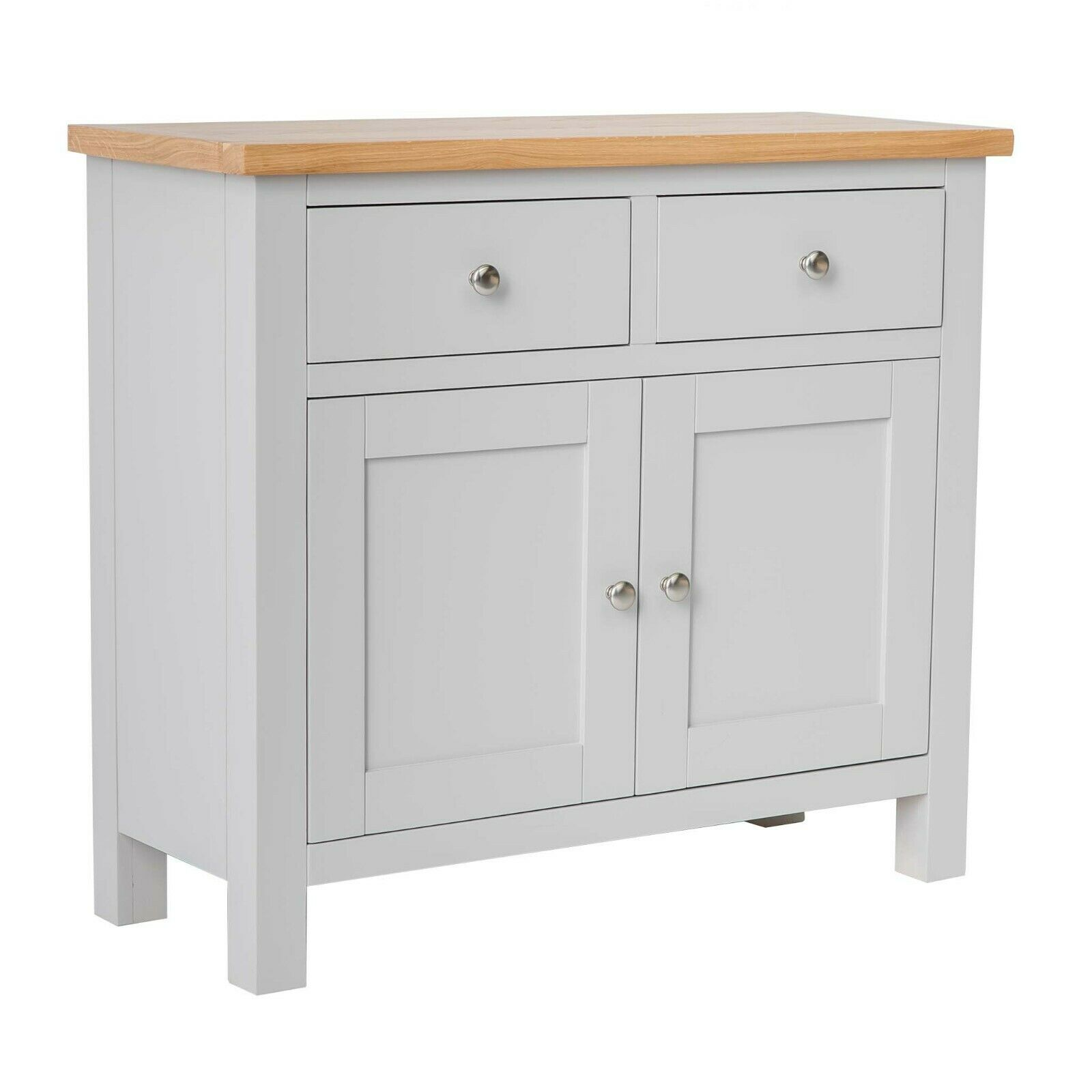 Farrow grey sideboard with two cupboards stone painted for Painted buffet sideboard