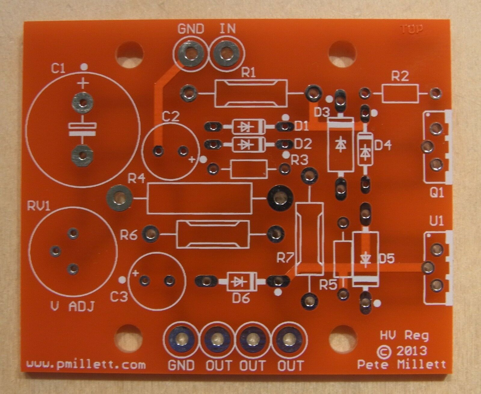 Diy Pcb High Voltage Maida Style Regulator 1500 Picclick Tube Power Amplifier 3w With 6bx7 Circuit 1 Of 3
