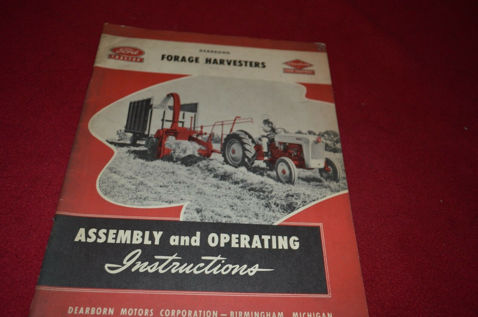 Ford Tractor Forage Harvester Operators Manual Dcpa5 1529 Yt16 Wiring Diagram 1 Of 1only Available