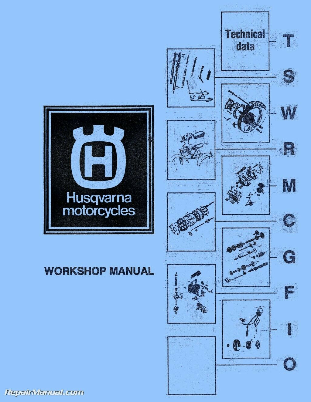 Husqvarna CR WR RT Motorcycle Manual 125 175 250 360 390 400 450 460cc  1973- 1 of 1Only 4 available ...