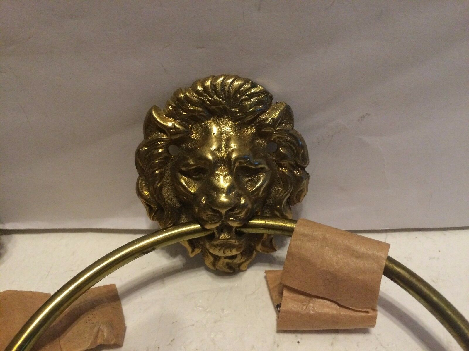 3 Antique LION DOOR KNOCKERS. MADE IN JAPAN Nice patina and condition