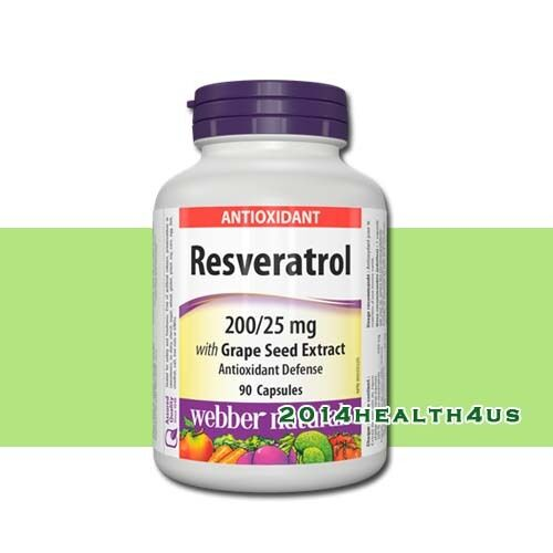 webber naturals resveratrol 200 25 mg with grape seed extract 90