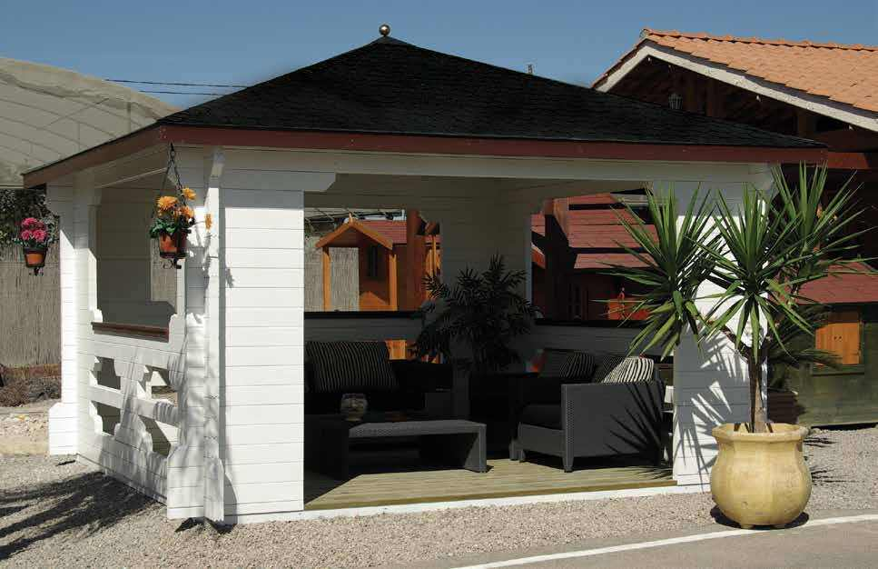 gartenhaus blockhaus ger tehaus holz gartenpavillon 4x4m. Black Bedroom Furniture Sets. Home Design Ideas