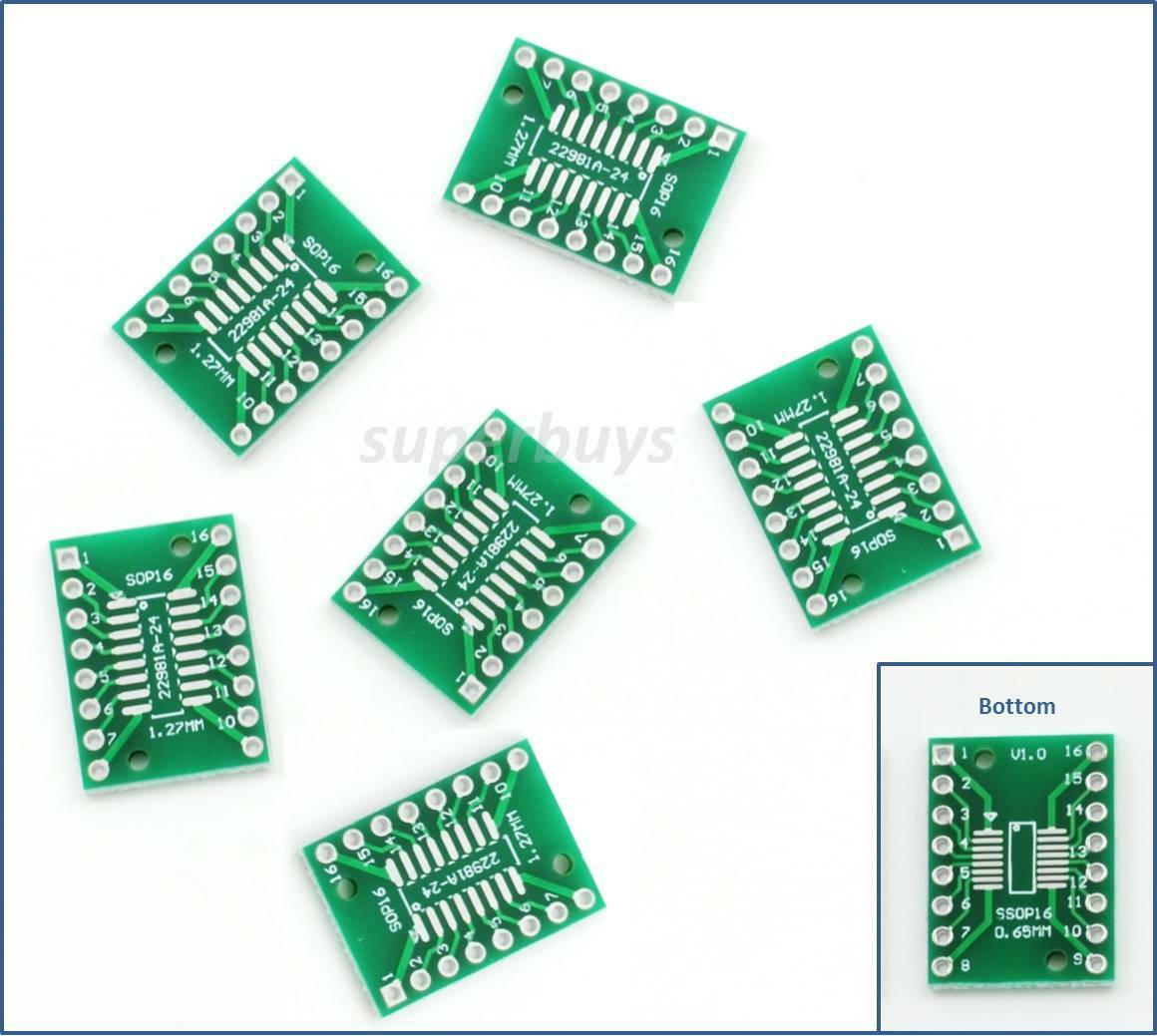 6pc Sop16 So16 Tssop16 Ssop16 Soic To Dip16 Adapter Breakout Pcb Soldering Prototype Copper Printed Circuit Board 50x70mm 2 Ebay 1 Of 3free Shipping