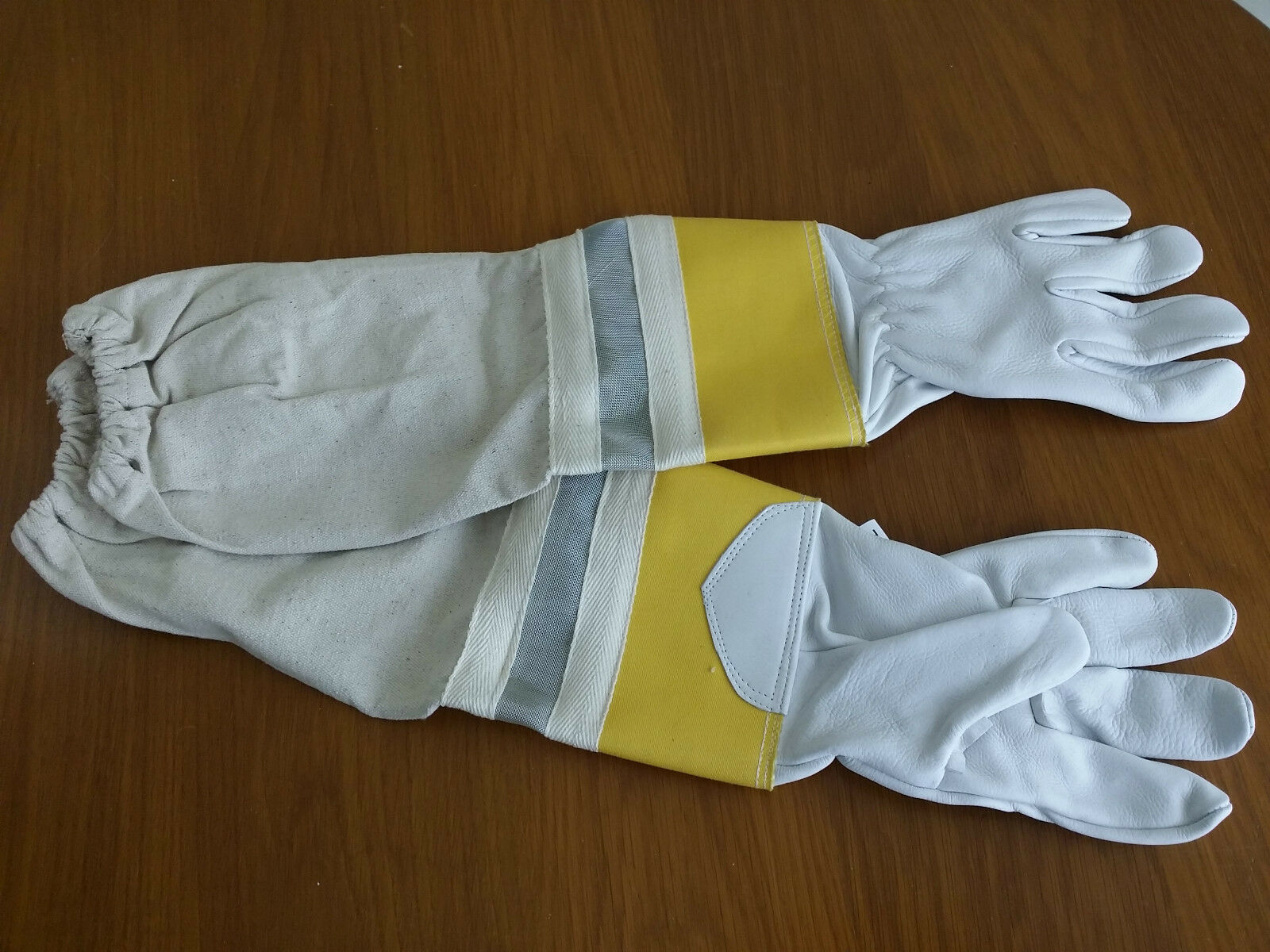 New beekeeping bee keeper leather gloves Rubber Cuff