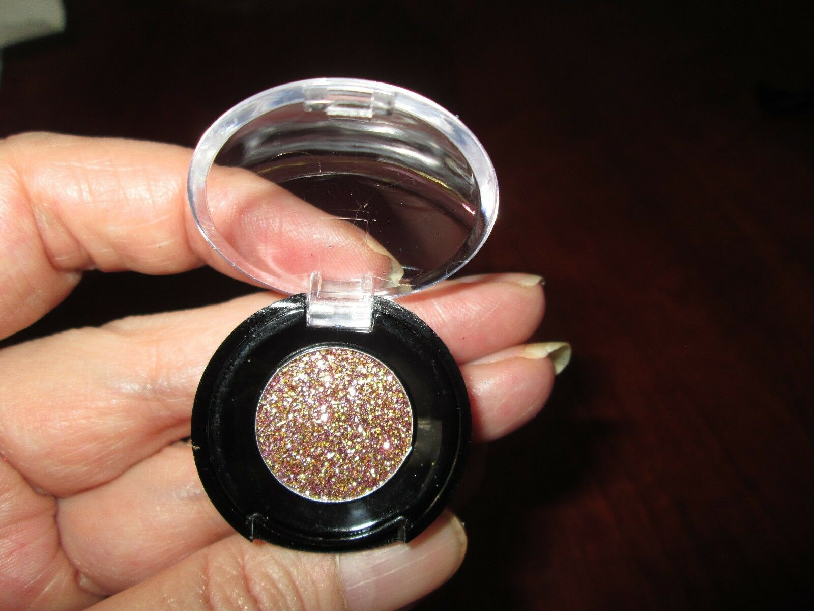 Glitter Eye Shadow Rose Gold Hand Pressed 300 Picclick Focallure And Glow Liquid Eyeshadow 1 Of 2 See More