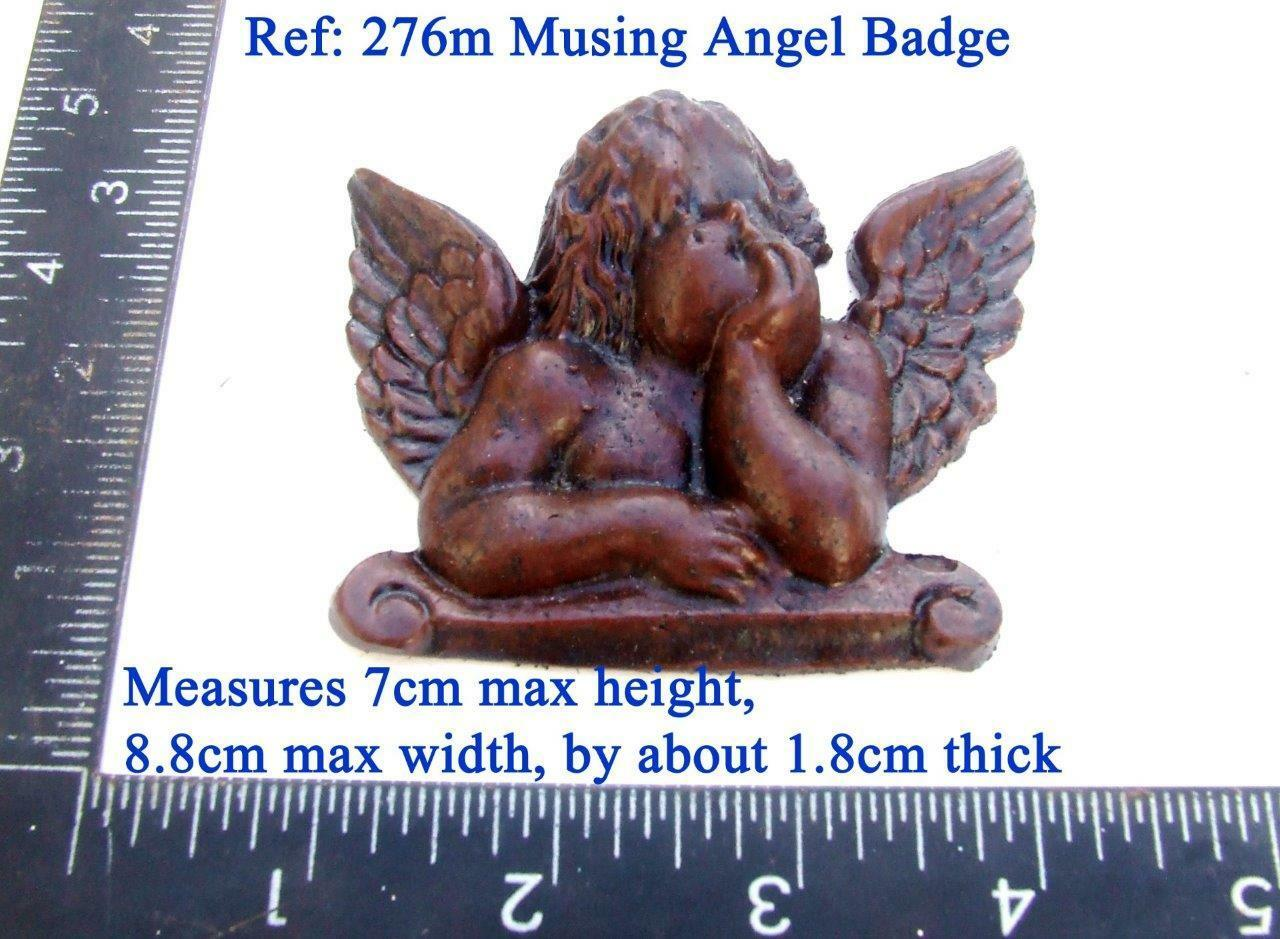 "276m ""Musing angel badge"" for Vienna regulator clock cases, DIY* furniture"