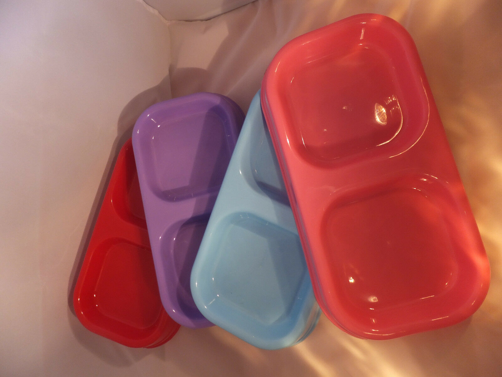 Plastic Twin Bowl Choice of Colours CBO 05