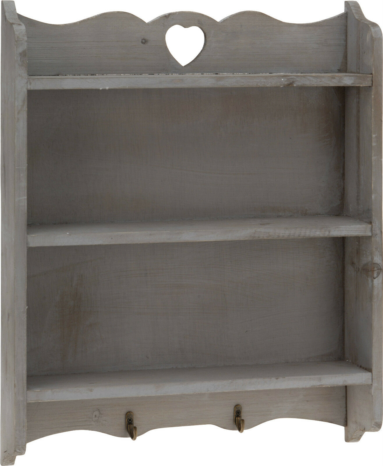 Tag re murale regal gris shabby used look maison de for Etagere murale style campagne