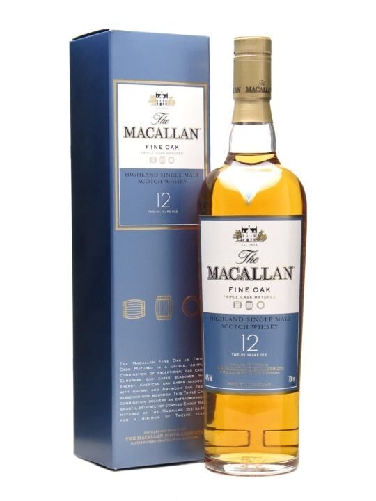 Macallan 12 Year Old Fine Oak Single Malt Scotch Whisky 700ml (Damaged Label)