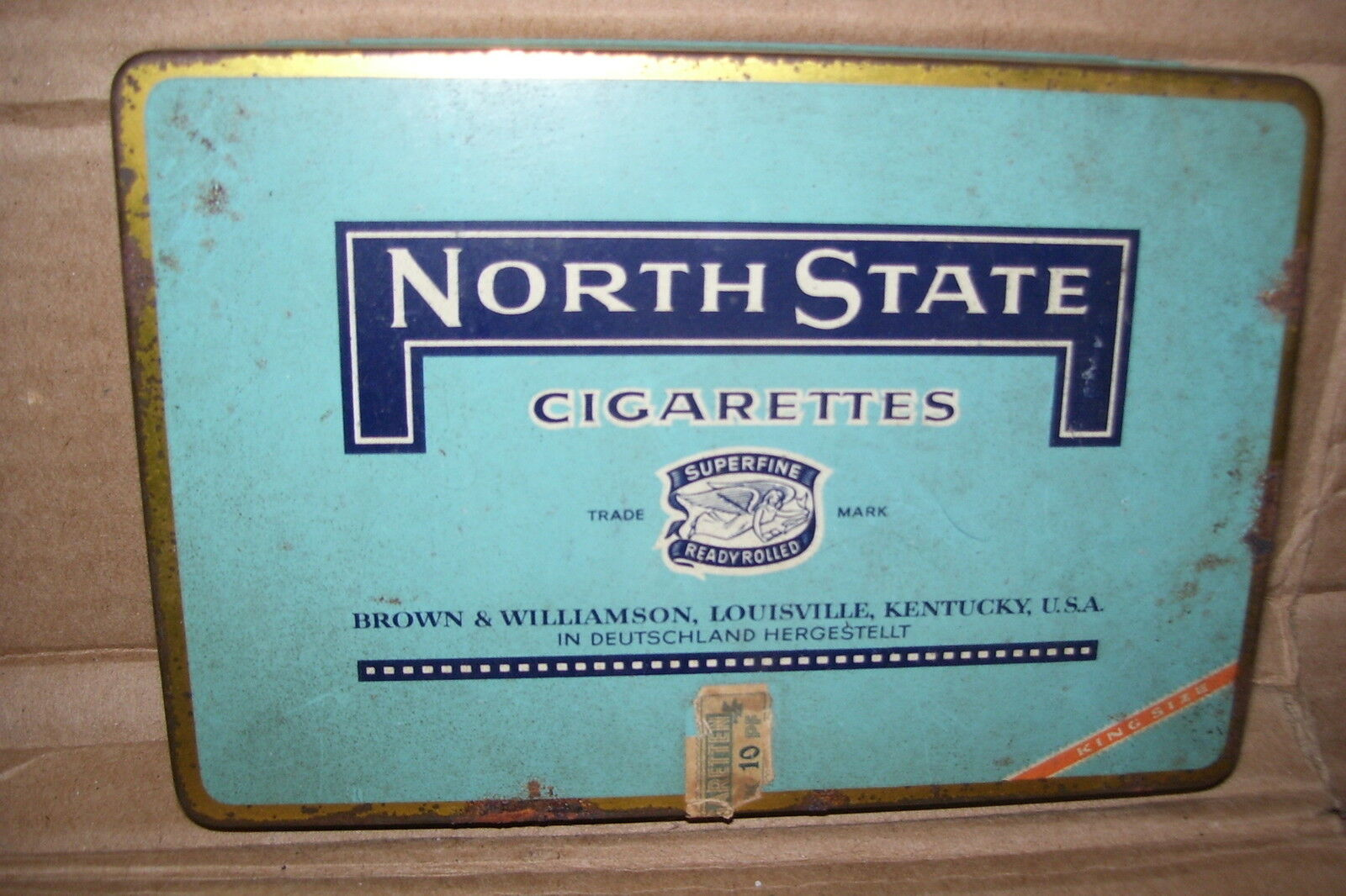 Vintage North State Superfine Ready Rolled Cigarettes Tin Box Container Tobacco • $29.99 - PicClick