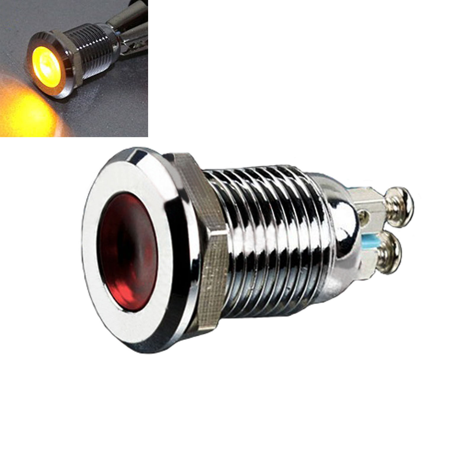 12mm Ac 220v Metal Yellow Indicator Light Signal Lamp Thread Mounted 5pcs 24v 8mm Red Led Power Xd8 1 Ebay Of 7only 2 Available See More