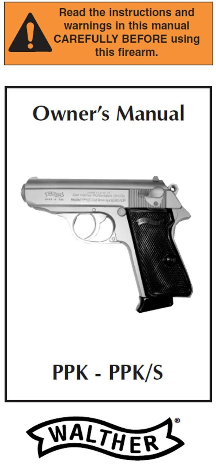 walther ppk ppks ppk s pistol owners instruction and maintenance rh picclick com