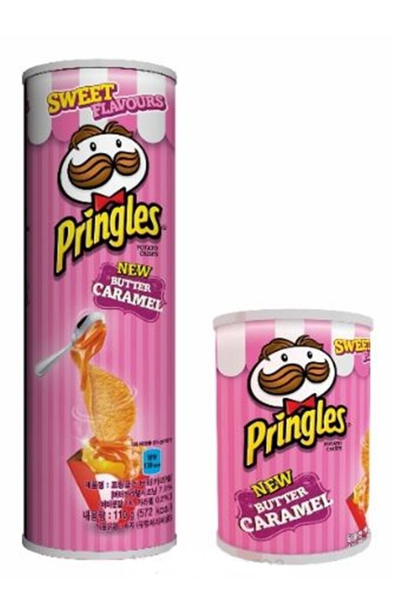 Pringles Butter Caramel Korea Only Launch limited Edition Potato Snack 110g 53g