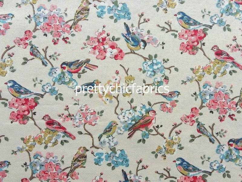 blossom bird cath kidston cotton duck fabric 1m picclick uk. Black Bedroom Furniture Sets. Home Design Ideas