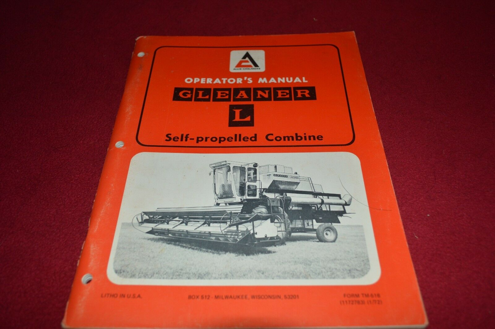 Allis Chalmers L Gleaner Combine Operator's Manual DCPA6 1 of 1Only 1  available See More