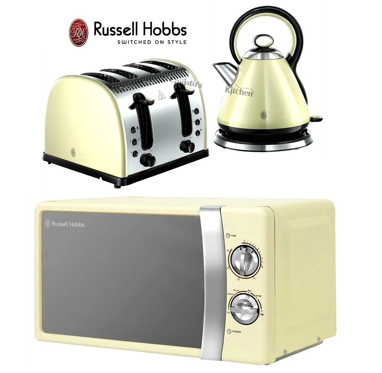 russell hobbs microwave kettle and toaster set legacy kettle 4 slice toaster. Black Bedroom Furniture Sets. Home Design Ideas