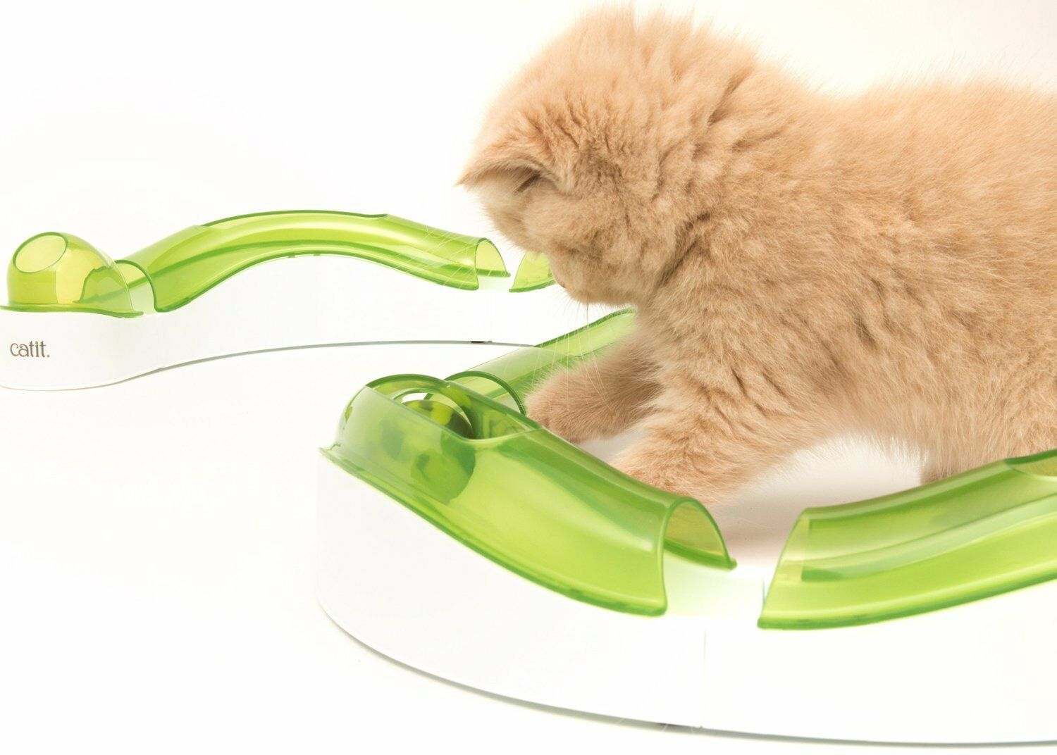 New Catit Senses Super Circuit 2.0 Cat Ball Chase Play Tube Track Roller Design