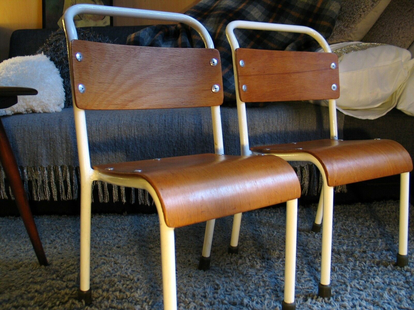 Gorgeous Retro Vintage small childrens childs school chair - two available