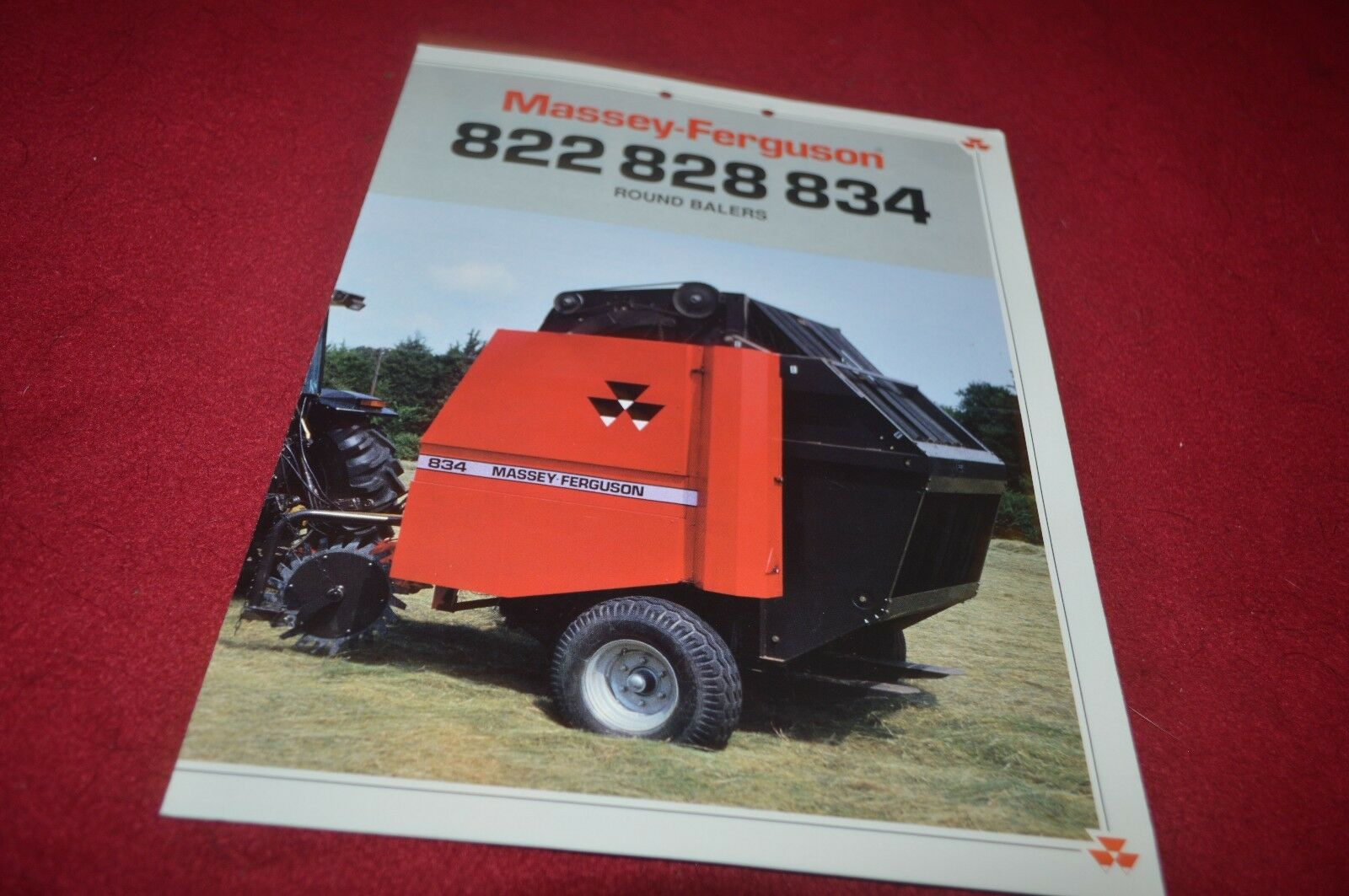 Massey Ferguson 822 828 834 Round Baler Dealers Brochure YABE10 1 of 1Only  1 available ...