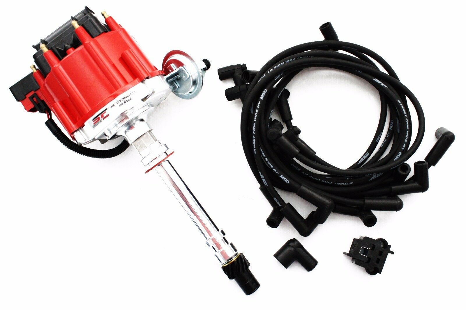 Msd Street Fire Sbc Bbc Chevy Hei Distributor 8362 Plug Wires 5554 With Digital 6al Wiring 1 Of 7only 4 Available