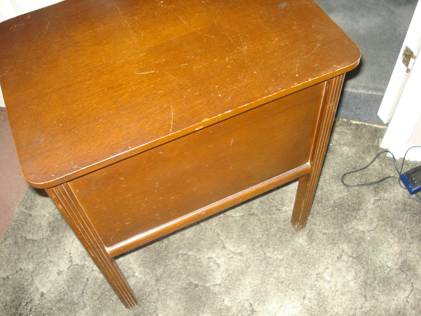 Antique Wooden Sewing Box / Side Table--Buyer Collects From Milton Keynes
