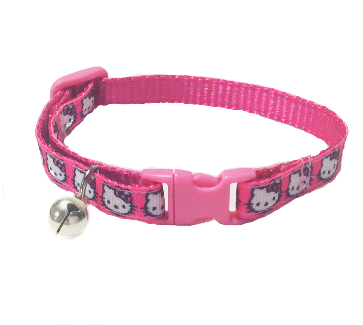 Spoilt Rotten Pets Super Cute Hello Kitty Character Cat Collar In Pink