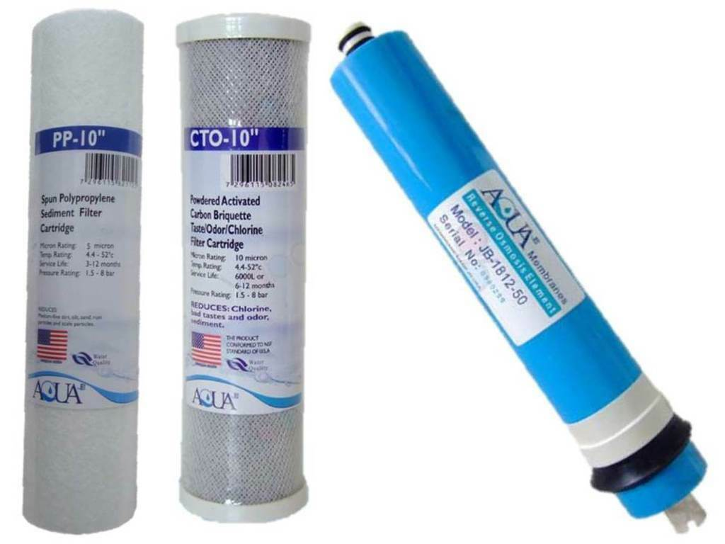 """10"""" Replacement Pre Filters, 50GPD Membrane for 3 Stage RO Units Reverse Osmosis"""