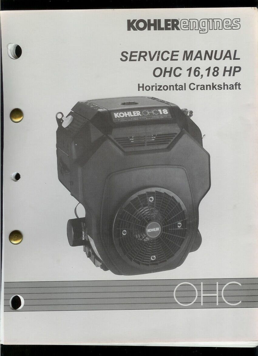Rare Original Factory Kohler OHC 16 18 HP Engine Service Manual 1 of 1Only  1 available ...