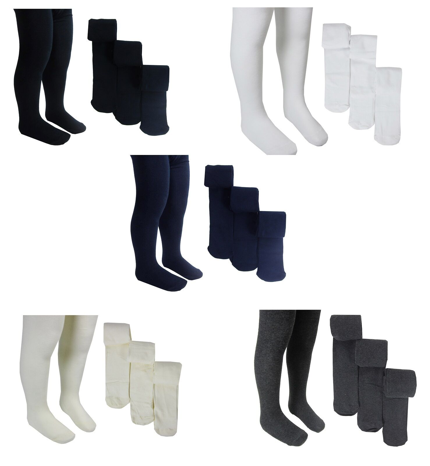 Ex M&S Girls Kids 3 Pack Tights School Tights 3 4 5 6 7 8 9 10 11 12 13 14 Years