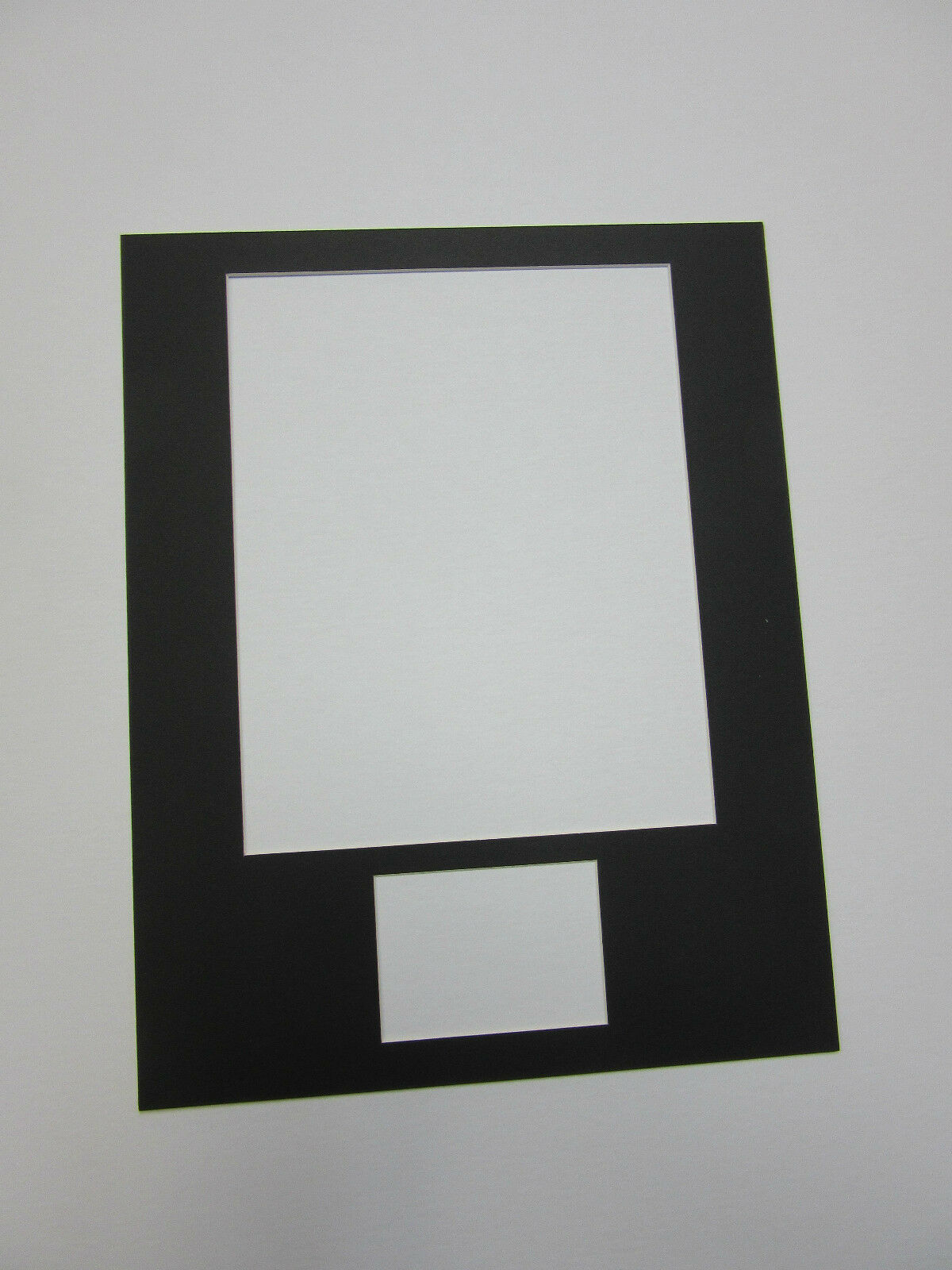 PICTURE FRAME MAT 11x14 for 8x10 photo and 3.5x2.5 autograph opening ...