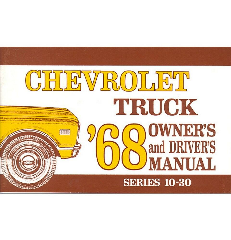 1968 Chevy Truck Owner's Manual 1 of 1Only 1 available ...