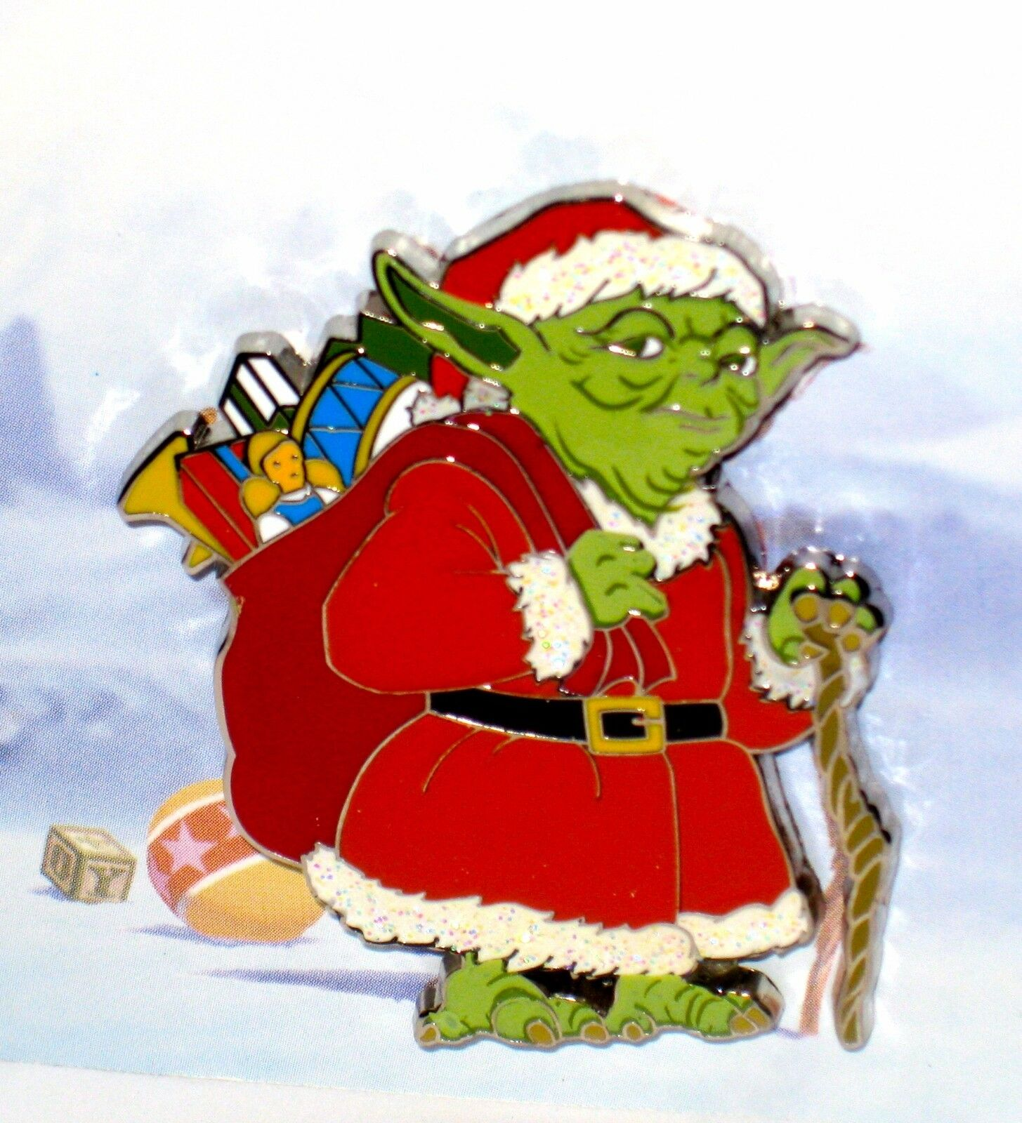 disney pinstar wars yoda santa toys silent jedi knight night christmas card new 1 of 5only 1 available disney pinstar wars