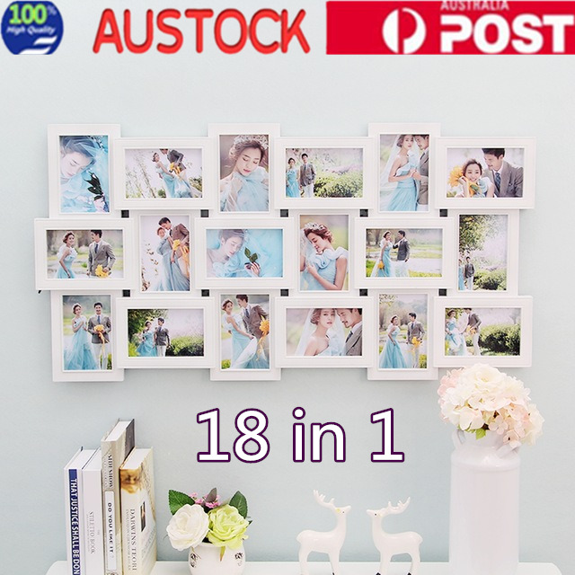 COLLAGE MULTI PHOTO Frames Family Picture Decor Photo Frame Gift 18 ...