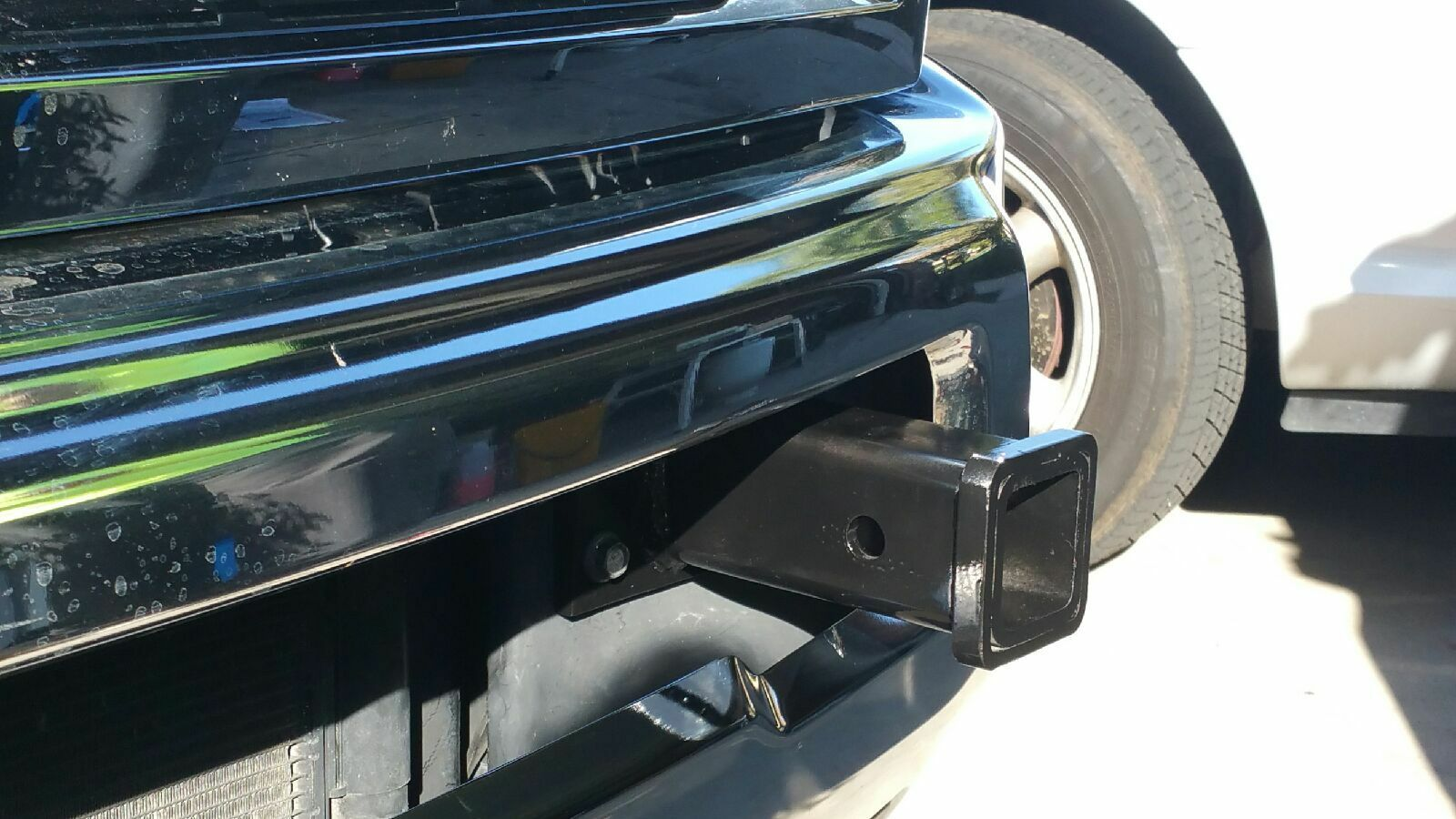 Dodge Ram Front Tow Hook 2 Receiver Hitch Truck Bumper Tube 2014 1500 Hooks 1 Of 10