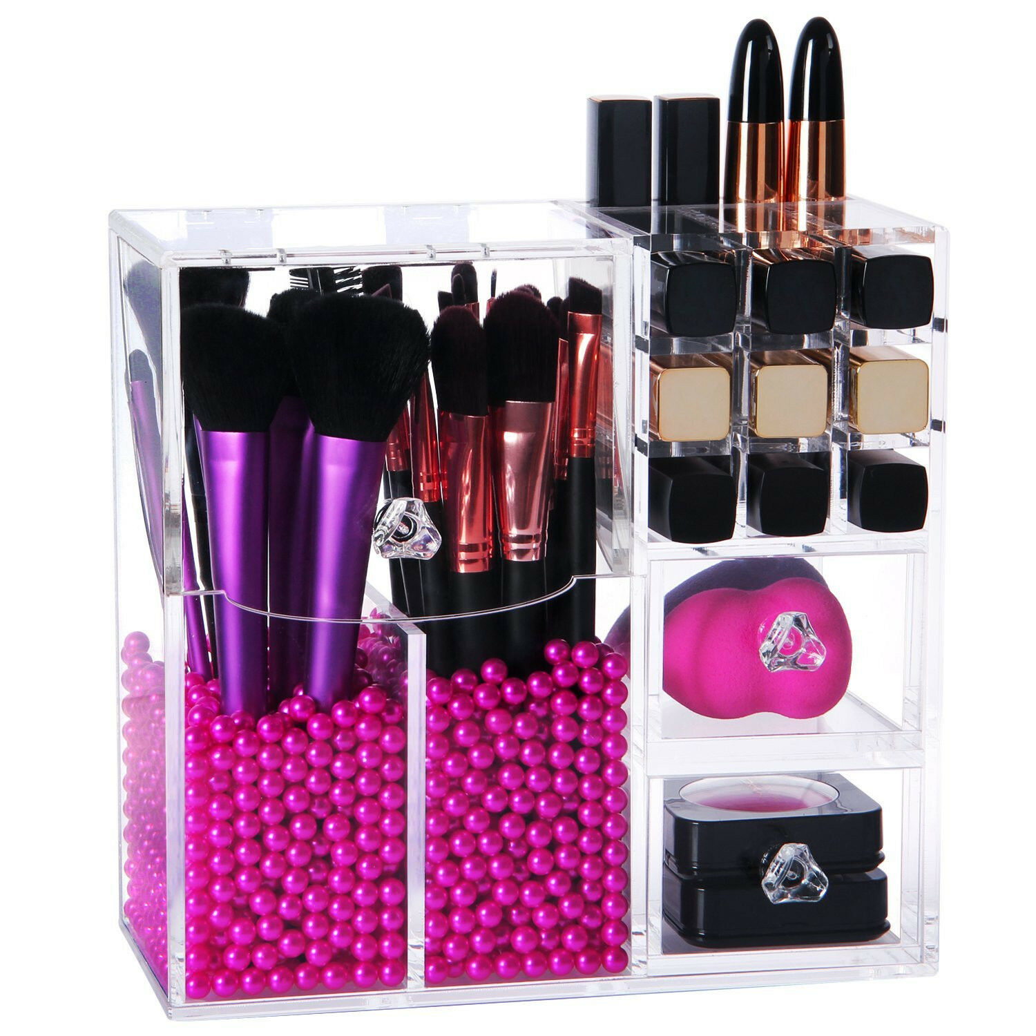 lifewit pinsel aufbewahrung mit lippenstift organizer. Black Bedroom Furniture Sets. Home Design Ideas