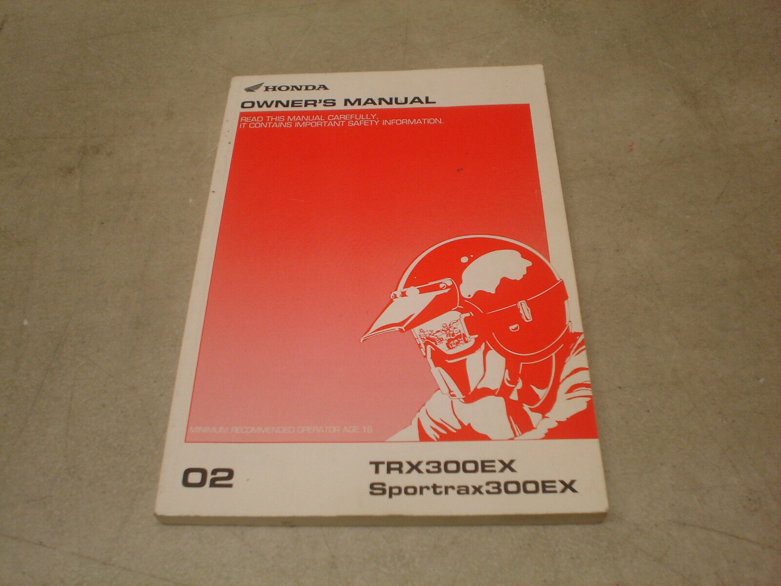 Honda OEM 2002 TRX300EX Sportrax Owners Manual 31HM3690 1 of 1Only 1  available ...