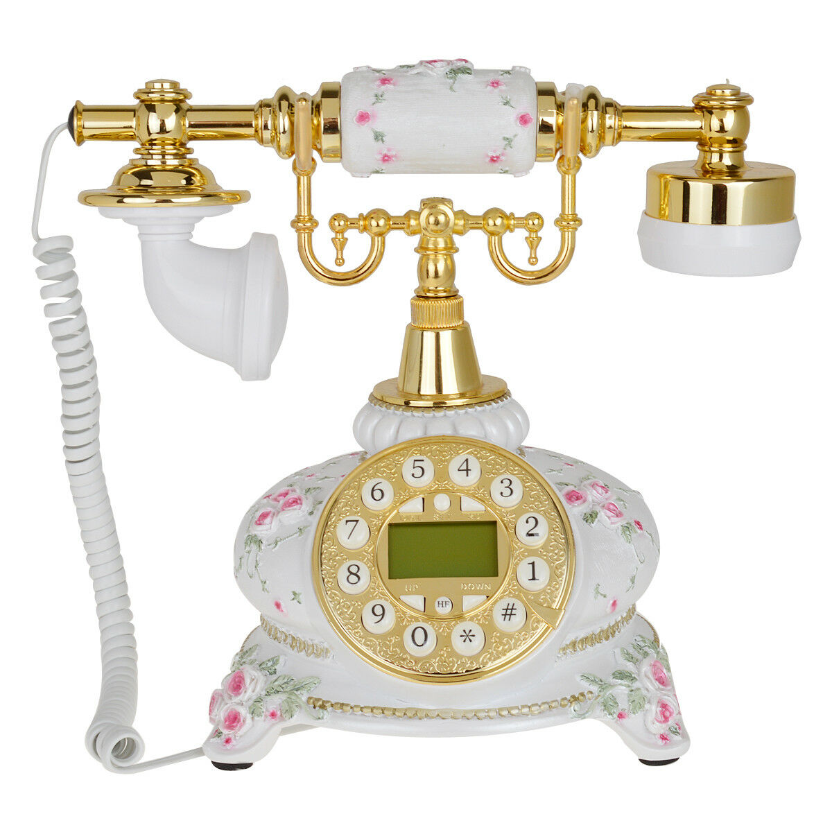 White Flower Retro Push Button Vintage Antique Telephone Dial Desk Phone 1  of 5Only 4 available See More - WHITE FLOWER RETRO Push Button Vintage Antique Telephone Dial Desk