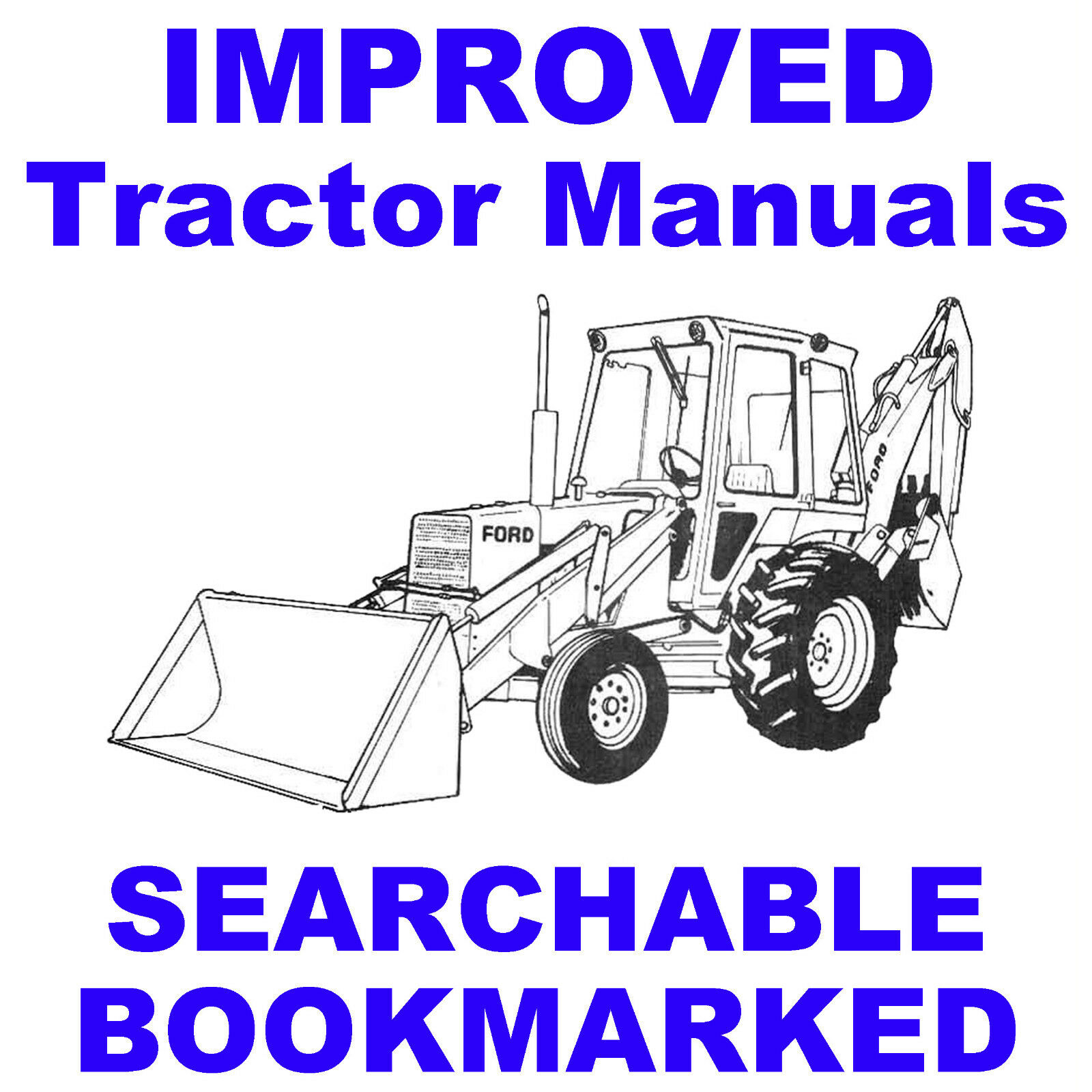 1 of 10FREE Shipping Ford 550 Tractor Loader Backhoe SERVICE SHOP,  OPERATOR, PARTS MANUAL MANUALS CD