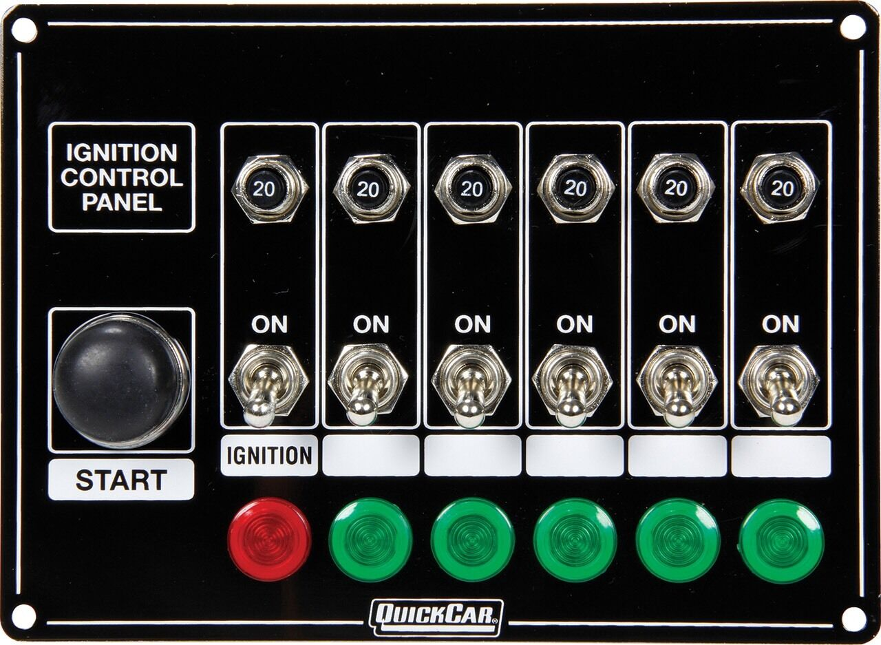 Quickcar Switch Panel Dash Mount With Toggles Lights And Circuit Breakers Automotive 15 Amp 1 Of 1only 3 Available