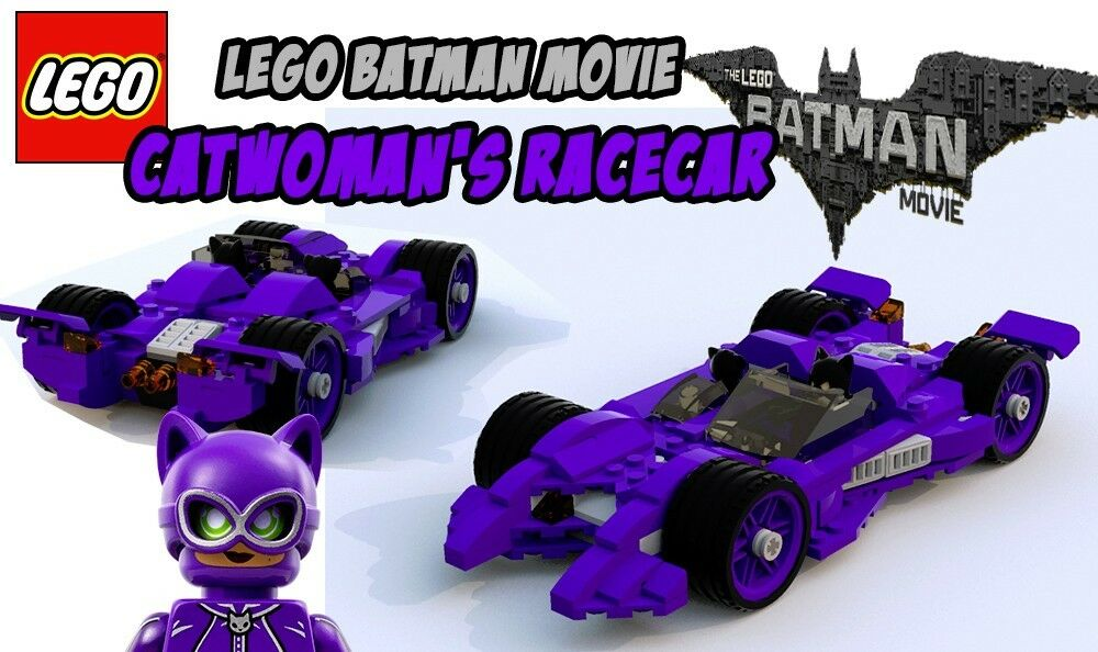 Custom Lego Batman Movie Catwomans Racecar Instructions Only