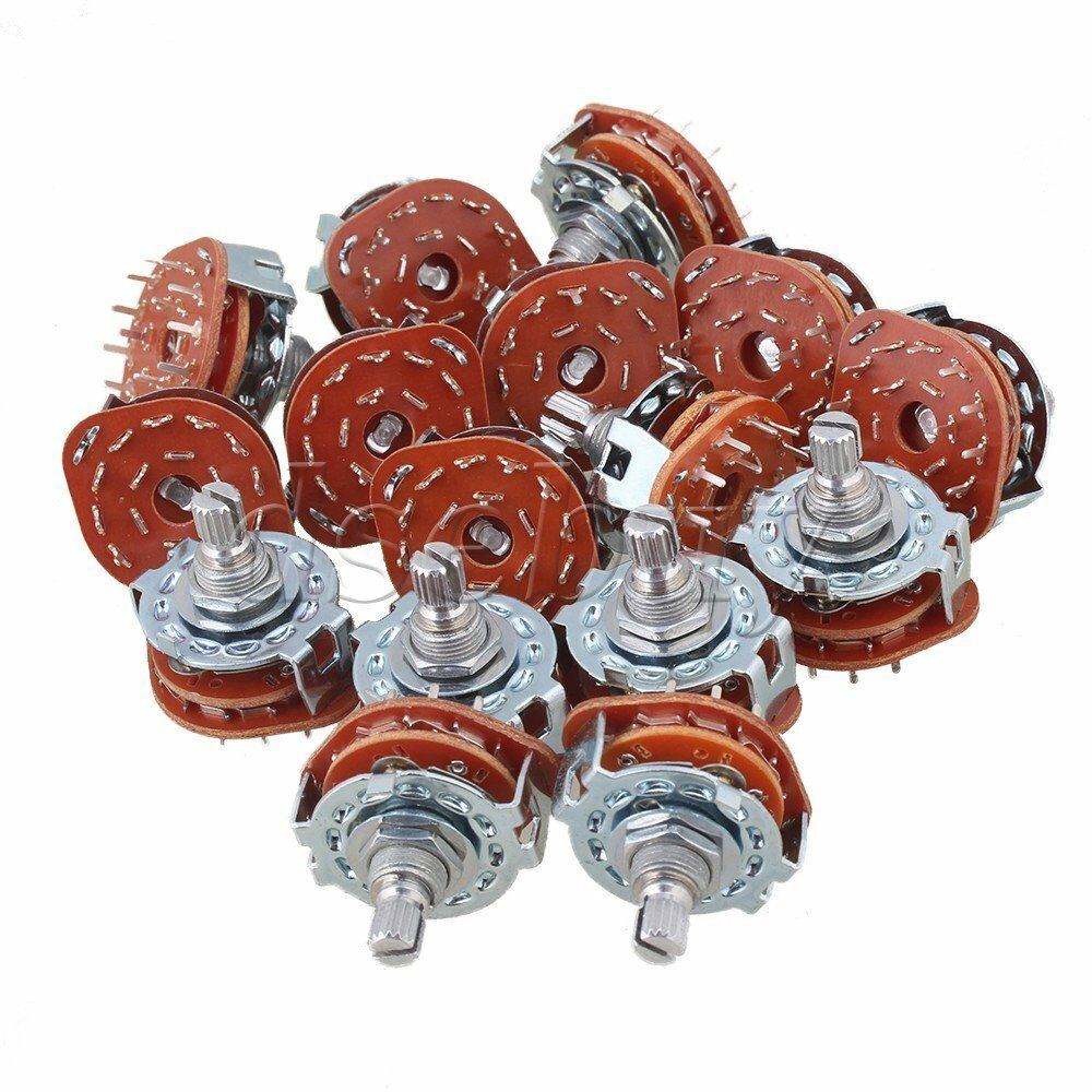 Chrome 3p4t Guitar Amplifier Rotary Switch For Custom Wiring Set Of A 40 1 1free Shipping