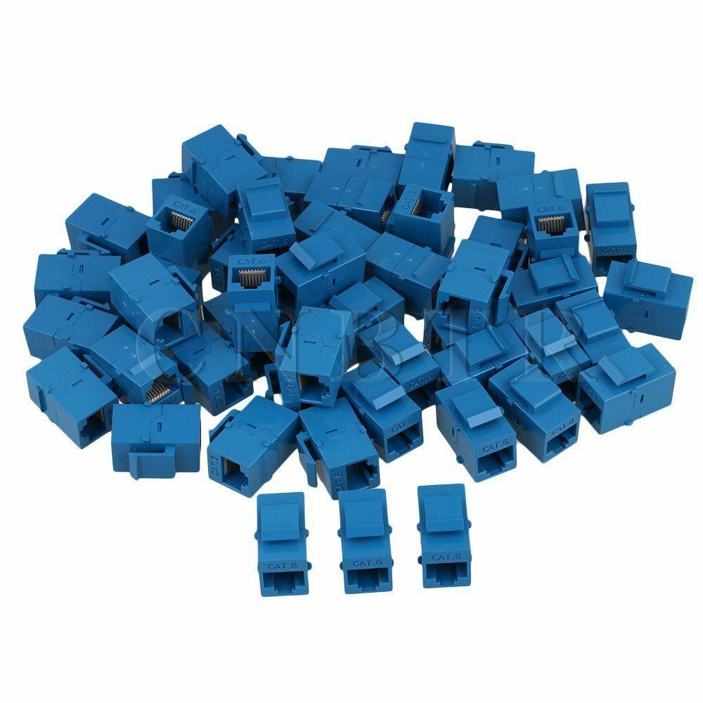 10 X Female To Cat6 8p8c Rj45 Utp Keystone Wall Jack Coupler Cat 5 Wiring Diagram Prise Plug Adapter 1 Of 2only Available See More