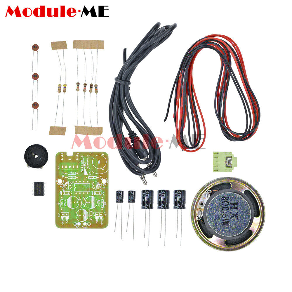 Audio Amplifier Diy Kit Electronic Production Suite 1w Stereo Headphone Based Tda2822 1 Of 6only 5 Available