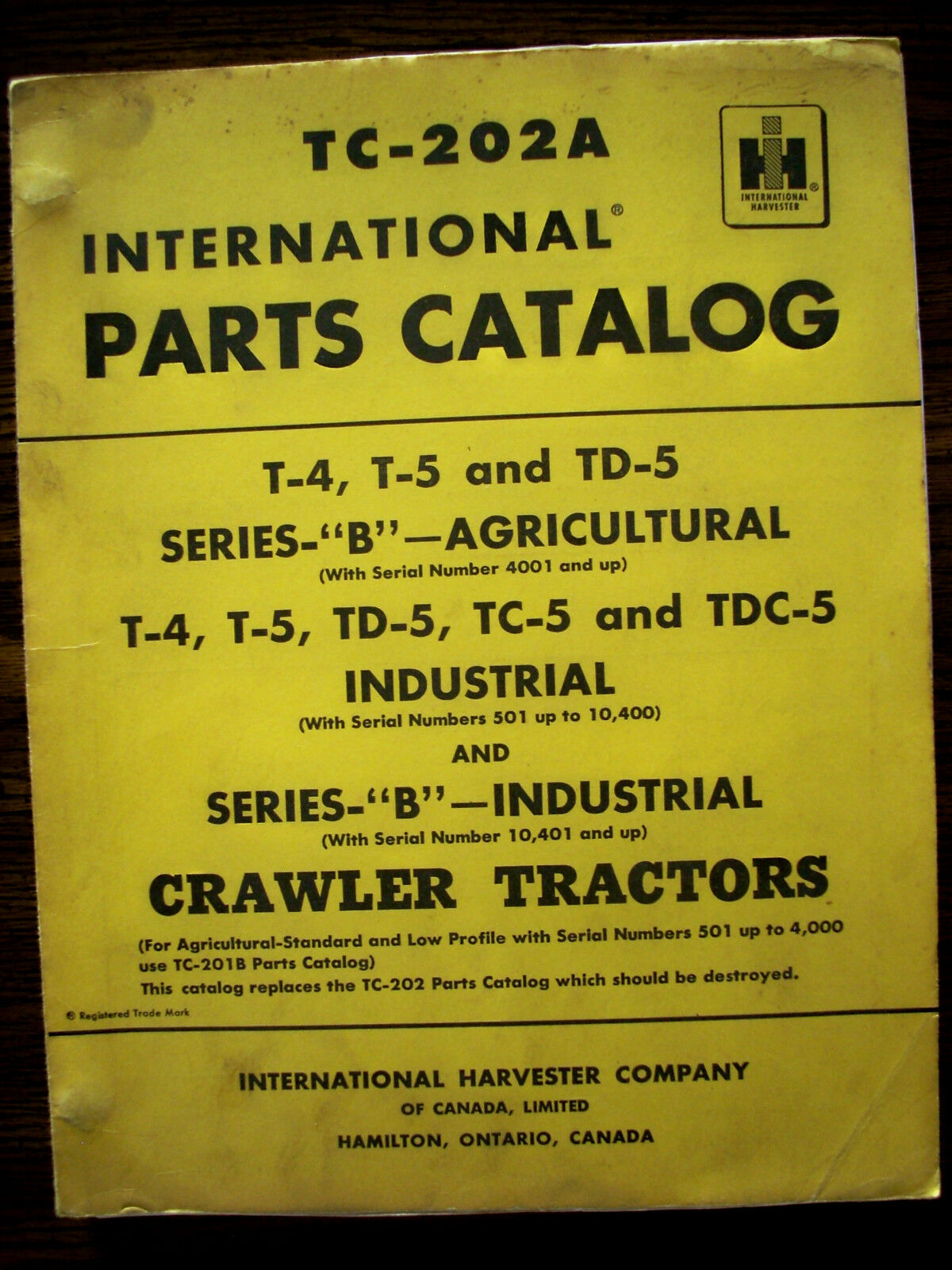 IH Farmall Mccormick International T4 T5 TD5 TC5 TDC5 Crawler Parts Manual  1 of 1Only 1 available See More