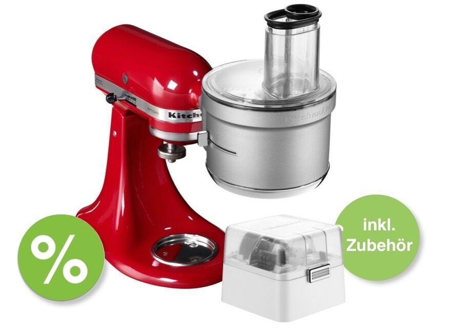 kitchenaid foodprocessor vorsatz inkl zubeh r f r artisan classic k chenmaschine eur 159 00. Black Bedroom Furniture Sets. Home Design Ideas
