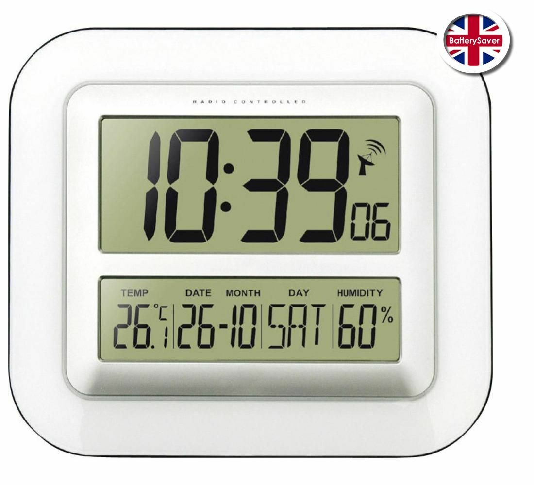 Technoline Ws8006 Radio Controlled Lcd Digital Wall Clock 2695